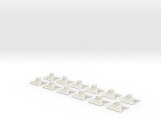 [12st] Vlinderblok v2b 1:87 (H0) in White Strong & Flexible