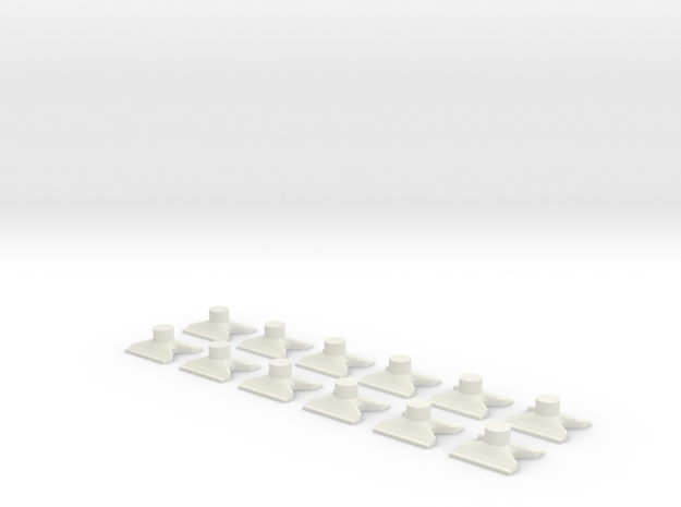 [12st] Vlinderblok v2b 1:87 (H0) in White Natural Versatile Plastic