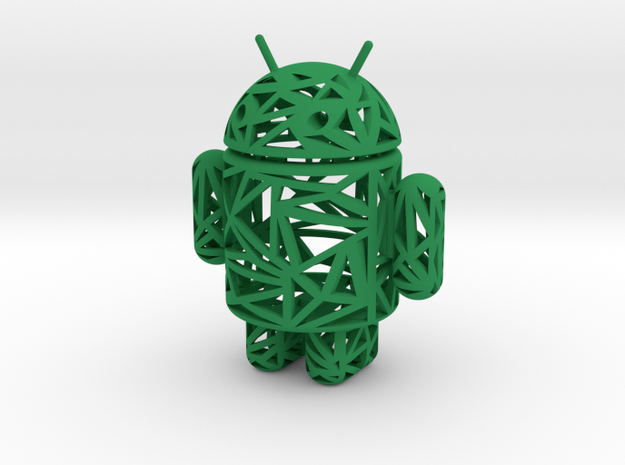 Wireframe Andy in Green Strong & Flexible Polished