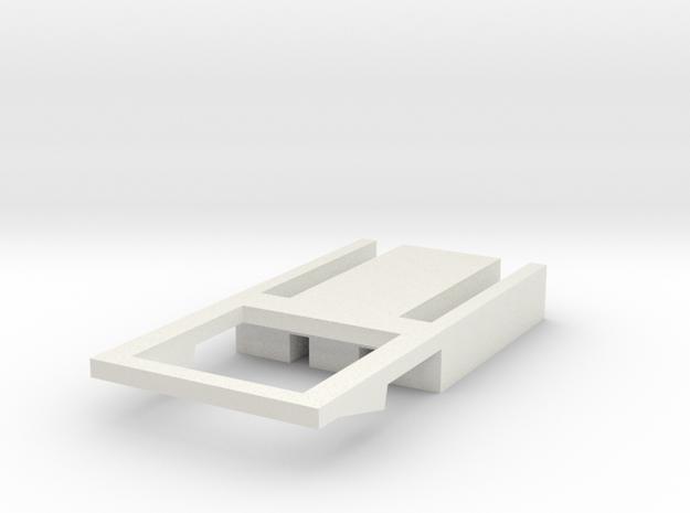 flyHolder frame v1 in White Natural Versatile Plastic