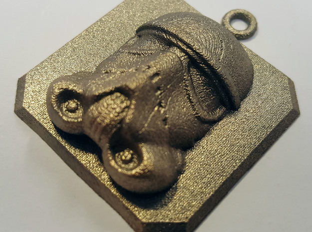 Stormtrooper Amulet in Polished Bronzed Silver Steel