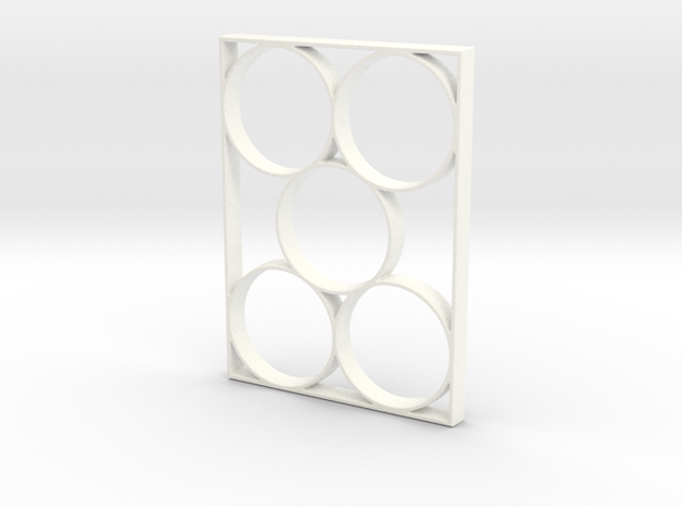 Mathletes Example Keychain in White Strong & Flexible Polished