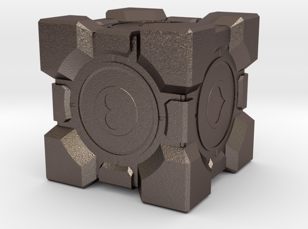 Aperture Science Weighted Companion Cube in Stainless Steel