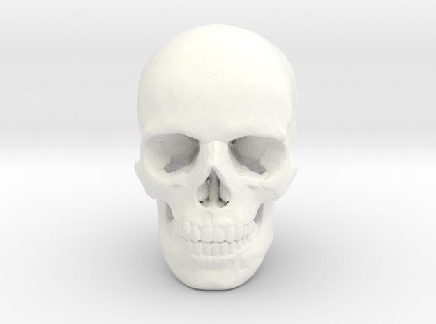 33mm 1.3in Human Skull (23mm/.9in wide)