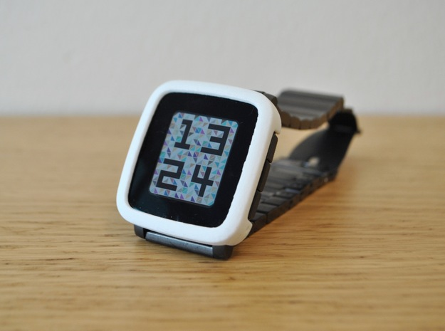Pebble Time Steel Bumper Cover in White Processed Versatile Plastic