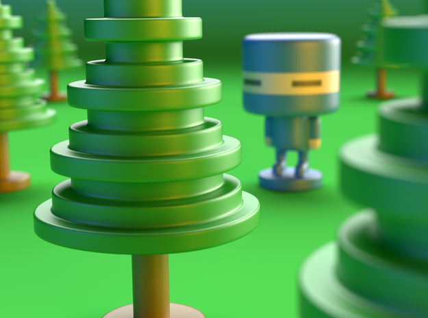 Lost Ninja toy tree 3d printed