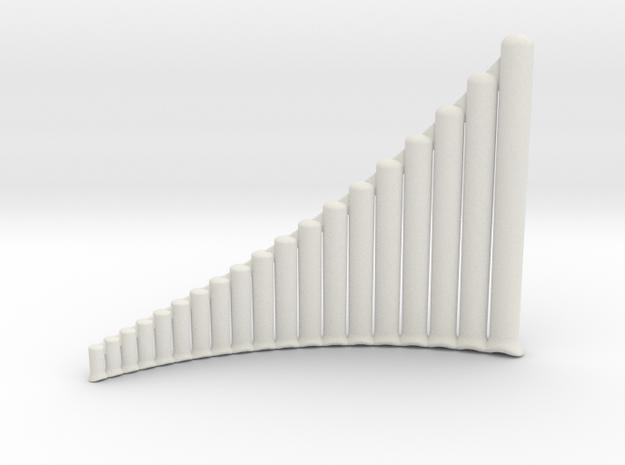 Ultra-lite Alto Panpipes G1-G4, Left-handed in White Natural Versatile Plastic