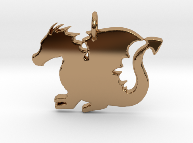 Baby Dragon in Polished Brass