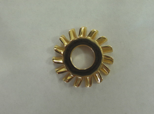 Turbine Pin in 18k Gold Plated