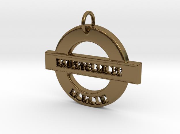Knightsbridge Sign in Polished Bronze