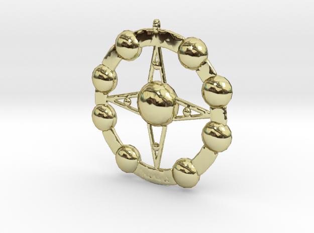 Astēr Planētēs - Pendant in 18k Gold Plated Brass