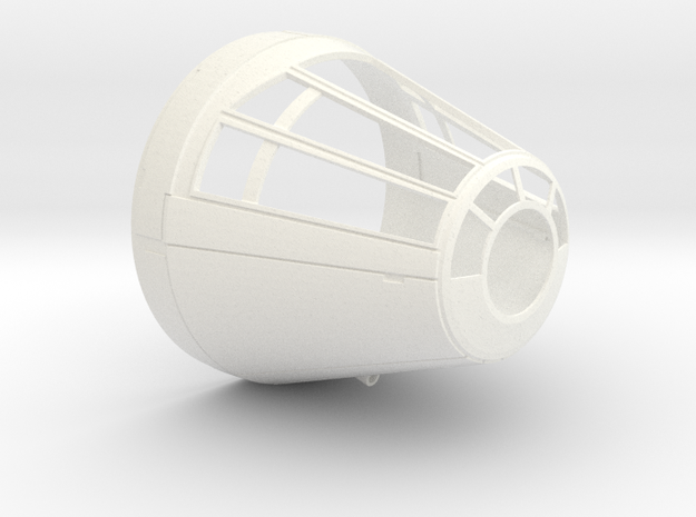 deAgo Millennium Falcon Cockpit Cone V1a in White Strong & Flexible Polished