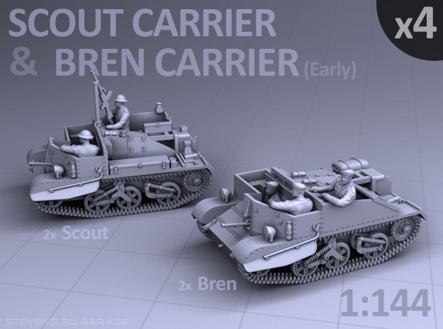 Scout and Bren Carrier  (4 pack)