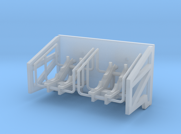 1:96 Life Boat Side Hangers - Sharp angle in Smooth Fine Detail Plastic