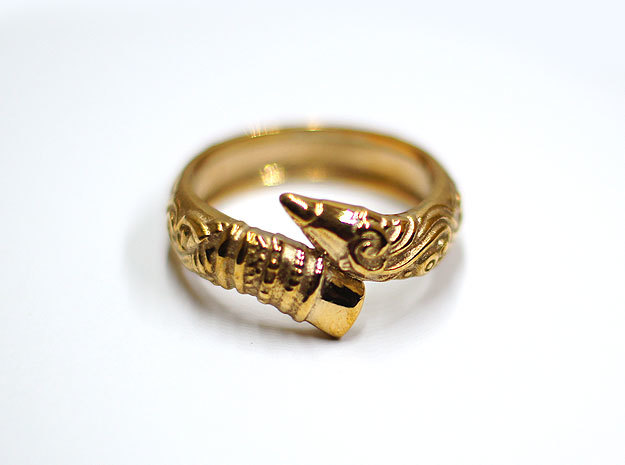 Artist's Pencil Ring 6.5 in Polished Bronze
