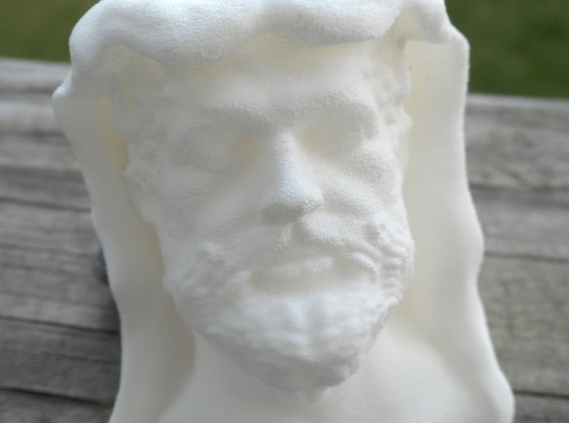 Hercules bust in White Strong & Flexible Polished