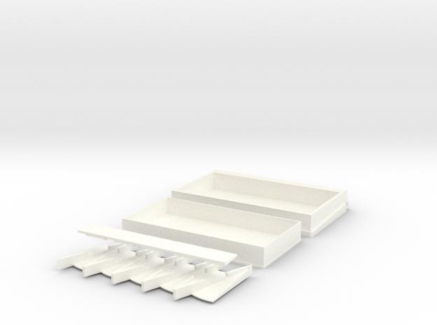 TiltShip1 Fixed 2 in White Processed Versatile Plastic
