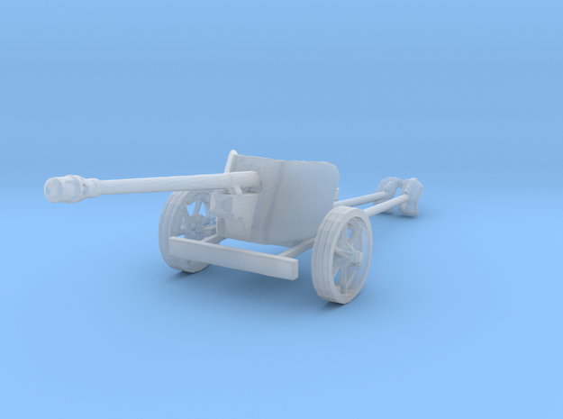1/220 z-scale Pak40 anti tank gun in Smooth Fine Detail Plastic