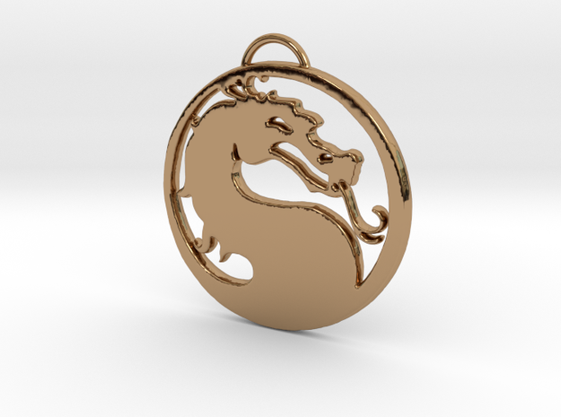 Big Dragon in Polished Brass