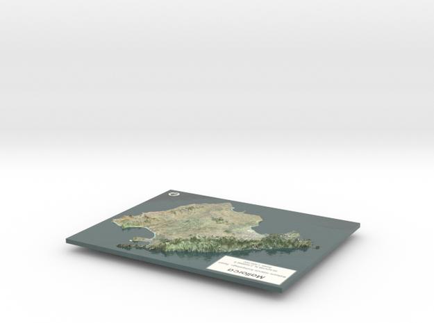 Mallorca Map - True Color w/Labels in Glossy Full Color Sandstone