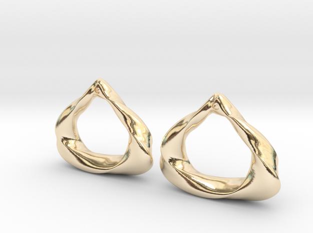 Sculpted Open Teardrop  in 14k Gold Plated Brass