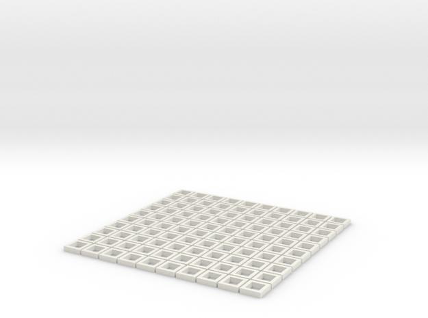 Custom size (1:38) GunportFrames in White Natural Versatile Plastic