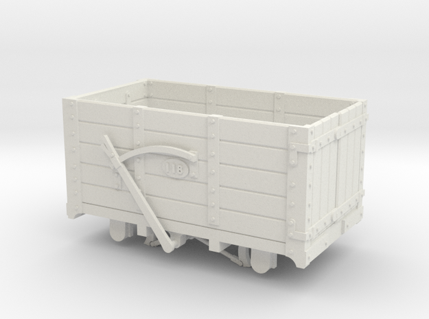 FR Wagon No. 118 7mm Scale in White Natural Versatile Plastic