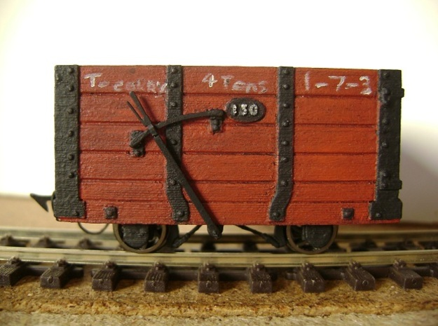 FR Wagon No. 130 5.5mm Scale in Smooth Fine Detail Plastic