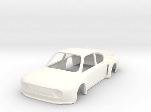 Skoda 130RS Super Saloon 1:43 in White Strong & Flexible Polished