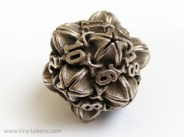'Floral' D20 balanced gaming die