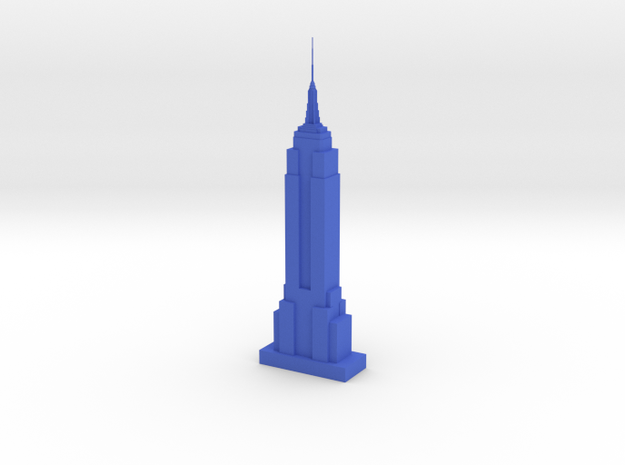 Empire State Building in Blue Processed Versatile Plastic