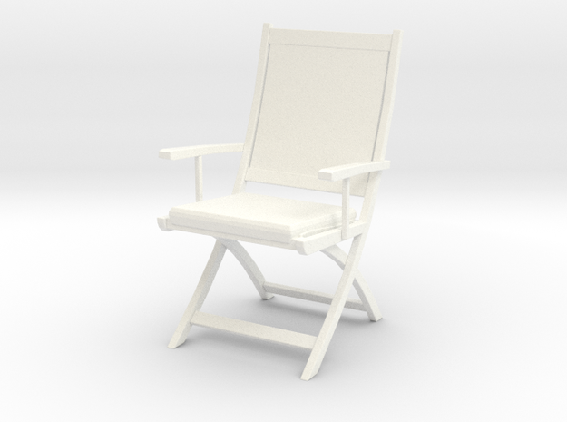 Chair 06. 1:24  Scale in White Processed Versatile Plastic