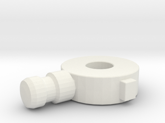 Replacement Knee Joint for Rockin' Action Megaman in White Strong & Flexible