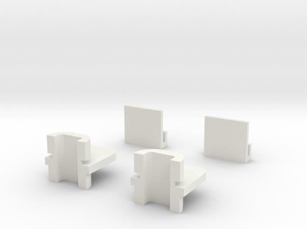 Dodge 4 Door Omni Window Regulator Pack in White Natural Versatile Plastic
