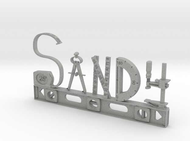 Sandy Nametag in Aluminum