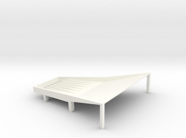 Cone Shake Tray 6t Fixed in White Processed Versatile Plastic