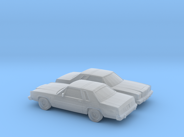 1/160 2X 1979-87 Mercury Grand Marquis LS Coupe in Frosted Ultra Detail