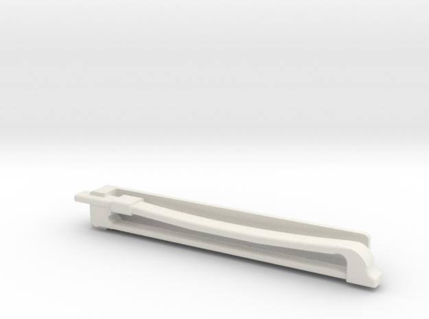 Violin Bow Tiepin in White Natural Versatile Plastic