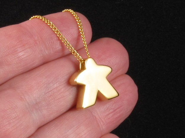 Meeple Pendant in 18k Gold Plated Brass