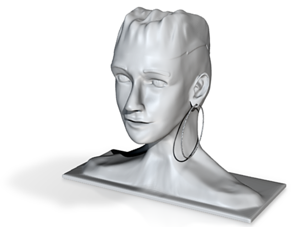 Mujer con Aro 3d printed