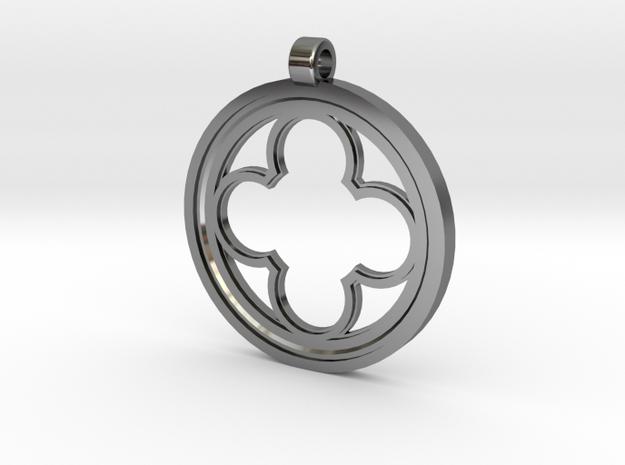 Rosette Pendant in Premium Silver