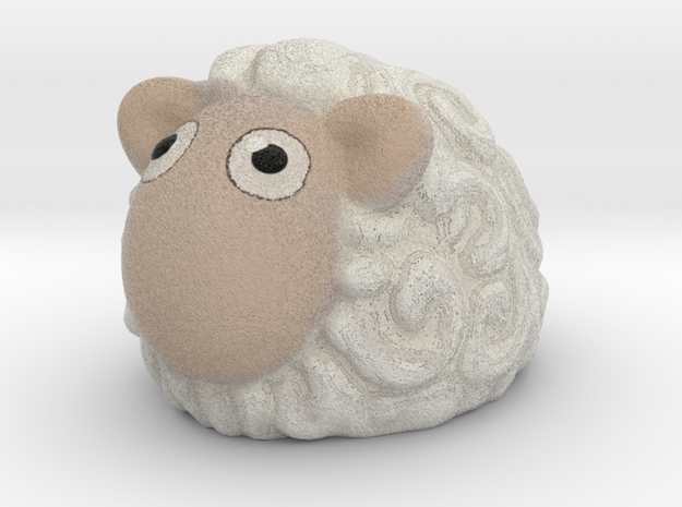 Sheep in Full Color Sandstone