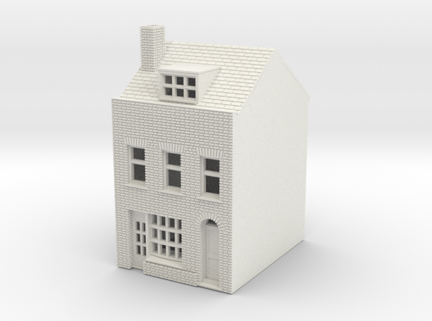 RHS-3 N Scale Rye High Street building 1:148 in White Natural Versatile Plastic