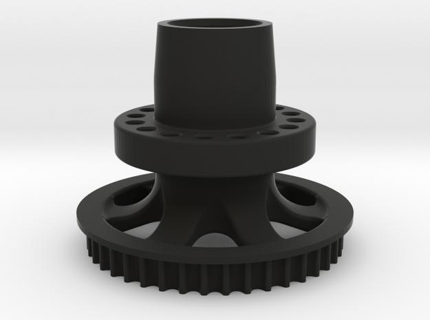 M3R16 Rear Hub - One Piece in Black Strong & Flexible