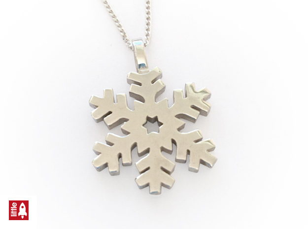 Snowflake Classic in Polished Silver