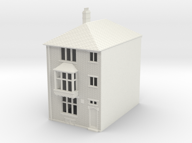 RHS-6 N Scale Rye High Street building 1:148 in White Natural Versatile Plastic