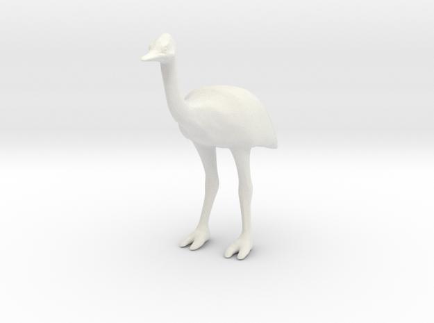 Ostrich in White Natural Versatile Plastic