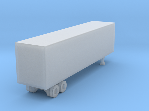 40 Box Trailer Acrylate Z in Smooth Fine Detail Plastic