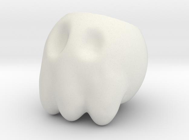 Skull Cup in White Natural Versatile Plastic