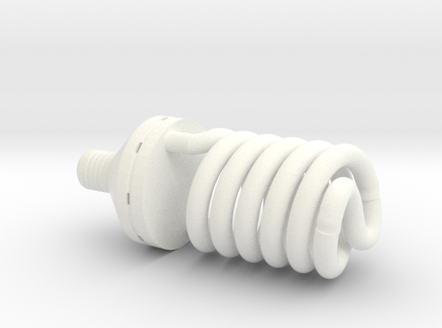 1:12 Light bulb #2 in White Processed Versatile Plastic